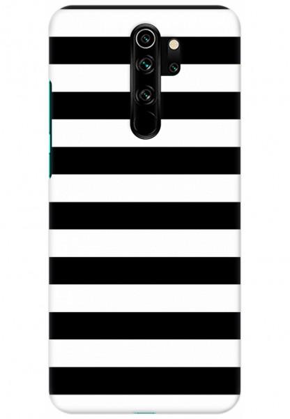 Mi Redmi Note 8 Pro Back Cover Simple Black And White Stripes